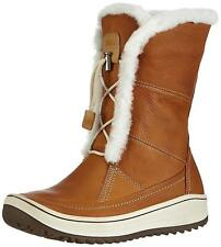 New in Box  ECCO Womens Trace Tie Fur Cold Weather Boots Amber Brown SZ 41 10.5