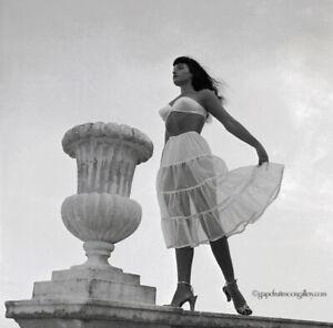 Bettie Page Original 1954 Camera Negative Bunny Yeager Estate White Petticoat NR