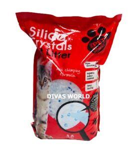 Silica Crystals Gel Cat Litter ULTRA Absorbent Antibacterial Odour Control 3.8L