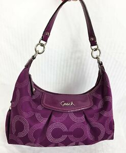 Coach F20031 Purple Hobo Logo Bag GREAT COLOR