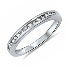 Engagement Ring Band Size 5-10 Women's .925 Sterling Silver Anniversary Wedding