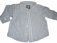 H & M tolles Hemd Gr. 68 blau-weiß kariert !!