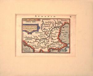 Romania Map circa 1595 - Artist Abraham Ortelius/ Antique map
