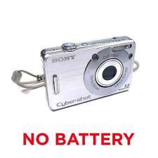 *No Battery* Sony Cyber-Shot DSC-W70 7.2MP Digital Camera *Heavy Wear* Tested