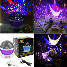360 Rotating Constellation Galaxy Moon Stars Space Projector Night Light Lamp