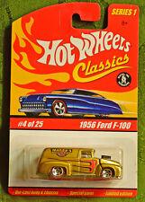 HOT WHEELS CLASSICS SERIES 1 1956 FORD F-100 M.O.C. DIE CAST CARS TRUCKS