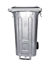 Mülltonne / Müllgroßbehälter Stahl / verzinkt 120 liter mit Ölablass