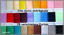 10 m Satin-Schrägband - 15 mm - mehr als 25 Farben - 1B-Ware