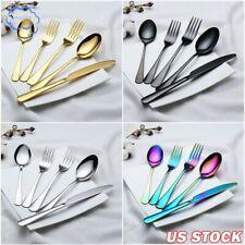 Cutlery Set Flatware Stainless Steel Dinnerware Tableware Dinner Knife ForkSpoon