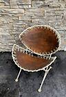 Vintage Mid Century Modern Tempestini  Salterini Leather ClamShell Chair