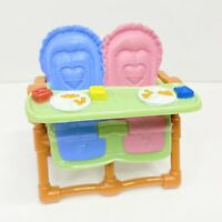 Fisher Price Loving Family Dollhouse Twin Baby Doll Brown High Chair Furniture