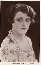 VINTAGE POSTCARD.ACTRESS JEANNE DE CASALIS NOTE & HAND SIGNED INK HARRIS RP