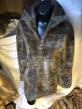 OLIVIERI LES MAREES COLLECTION GENUINE SHEARLING DESIGNER JACKET MADE IN ITALY M