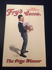 "FRY'S CHOCOLATE & COCOA  ANTIQUE LITHO ADVERTISING POSTCARD ""THE PRIZE WINNER"""