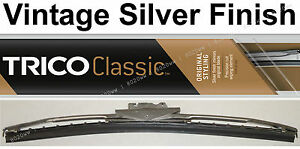 "Classic Wiper Blade 12"" - Antique Vintage Styling - Silver Finish - Trico 33-122"