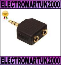 3.5MM MINI STEREO JACK PLUG TO 2 3.5MM SOCKETS HEADPHONE ADAPTOR SPLITTER