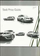SAAB 93 SALOON/SPORTWAGON/CONVERTIBLE,95 SALOON/ESTATE PRICES BROCHURE AUG. 2007