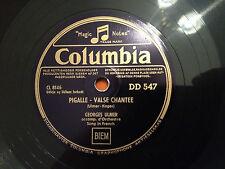 "GEORGES ULMER ""Pigalle - Valse Chantee""/""Nicole"" 78rpm RARE 1947 DANISH 10"" NM+"