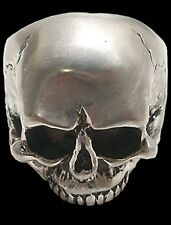 925 Sterling Silver Handmade Keith Richards Skull Ring - All Sizes Biker Jewelry