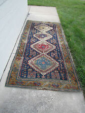 Antique Hand Made Persian Carpet Oriental Rug Beautiful Intricate AS IS worn
