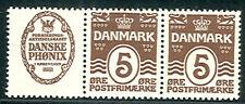 DENMARK (RE2) 5ore brown DANSKE PHONIX adv pair NH