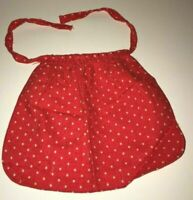 Vintage Red White Polka Dot BARBIE Doll Kitchen Cooking Apron