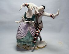 KARL ENS  Pierrot  Harlekin mit Dame / Harlequin with Lady  um 1921  SUPER!!!