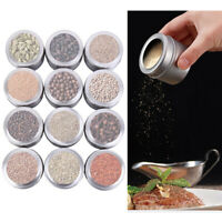 12pcs Magnetic Stainless Steel Spice Pot Jar Storage Holder Cook Stand Rack US