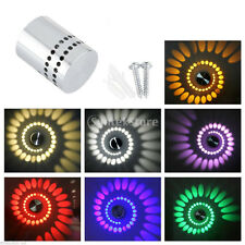 Spiral LED Wall Lamp SconcesLight Bedroom Sconce Lamp Fixture White 1W New