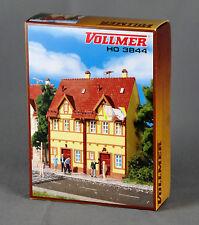 VOLLMER 3844/43844 [Spur H0, Bausatz] Reihen-Doppelhaus, gelb - NEUWARE!