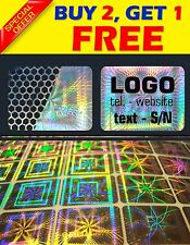 "504 Custom printed hologram VOID sticker label security warranty seals 0.6""X0.8"""