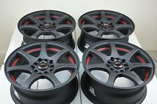 17 matt black Wheels Rims PT Cruiser Corolla Lancer Fusion Element 5x100 5x114.3