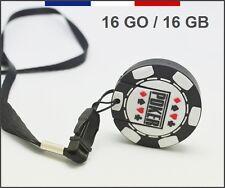 CLÉ USB JETON POKER + DRAGONNE 16GO / 16G USB FLASH DRIVE POKER CHIP