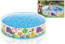 Intex 6' Ocean Play Rigid Wall Snapset Kids Summer Garden Swim Paddling Pool Toy