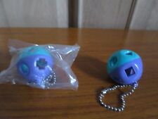 TUPPERWARE Keychain/Keyring SHAPE O BALL Tupper Toy PURPLE & BLUE, Alzheimer Toy