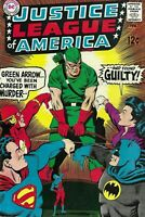 Justice League of America #69 Silver Age February 1969 Wonder Woman Resigns JLA