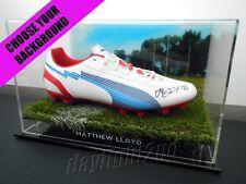 ✺Signed✺ MATTHEW LLOYD Football Boot PROOF COA Essendon Bombers 2017 Guernsey