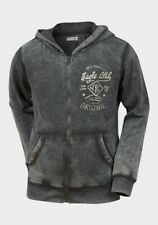 NEW Minoti Boys Grey/White Eagle Washed Design Hoodie   - Age 10 - 11 Years