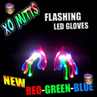 NEW! RGB XBone L.E.D Gloves Rave Burning Wear Man Light Up Show DJ - FREE SHIP~!