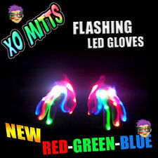 NEW! RGB XBone L.E.D Gloves Rave Burning Wear Man Light Up Show DJ - FREE SHIP~!
