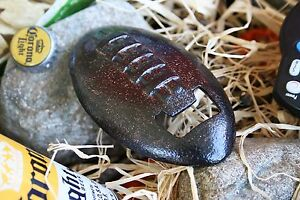 POTTERY BARN FOOTBALL BOTTLE OPENER – NIB – HAVE A BALL WITH GAME-DAY DRINKS!