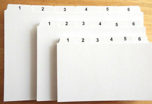 1-31 INDEX RECORD GUIDE CARDS 8x5 6x4 5x3 DAYS OF MONTH Daily Dividers Tabs : UK