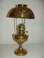 ANCIENNE GRANDE LAMPE A PETROLE PARISIENNE CABOCHON EN CUIVRE CISELER