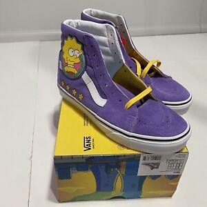 VANS® The Simpsons™ Lisa 4 Prez Sk8-Hi Ltd. Ed. Purple Mens 8 Womens 9.5 NEW