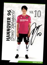 Genki Haraguchi Autogrammkarte Hannover 96 2019-20 Original Signiert
