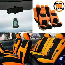 Car Seat Covers Light & Breezy Flat Cloth Seat Covers Combo Set w/ Air Freshener