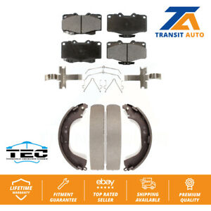 Front Rear Ceramic Brake Pads And Drum Shoe Kit For Toyota 4Runner Pickup Tacoma