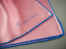 BROOKS BROTHERS Silk Pocket Square Handkerchief 100% Silk Pink NWOT $45 New