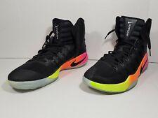 Nike Zoom Hyperdunk High Top Basketball Shoes Black Neon 844359 006 Sz 13