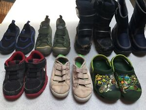 Little Boys Shoes Lot Size 10 Nike Keen Ninja Turtles Snow Boots Sneakers